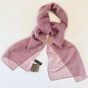 Iridescent Rose sheer scarf NWT